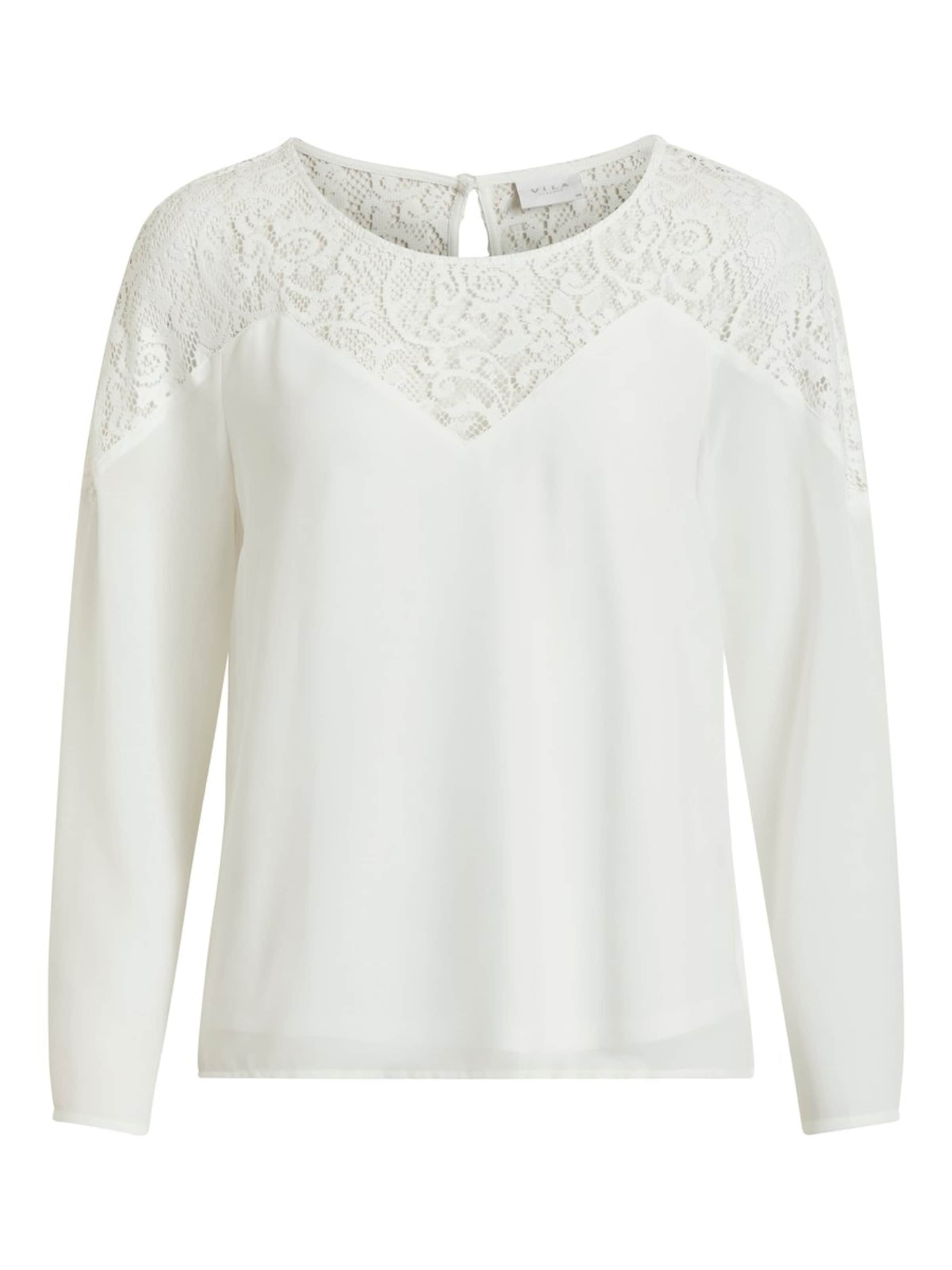 L Lace Weiß 'vibekida s Shirt In Top' Vila Tc5uF3Kl1J