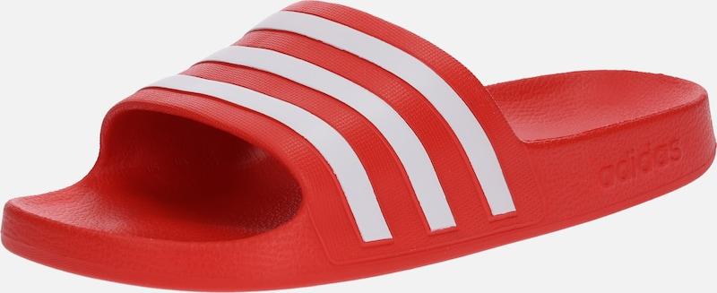 7ce03705346e Rouge Aqua  En Originals  adilette Adidas Mule Blanc qXwOB6Szx