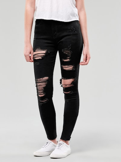 HOLLISTER Jeans in black denim, Modelansicht