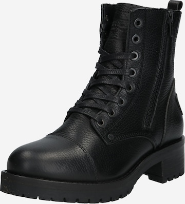 BULLBOXER Lace-Up Ankle Boots in Black