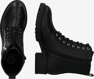 ABOUT YOU Bottines à lacets 'Marit Shoe' en noir: Vue de profil