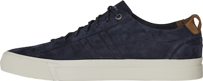 TOMMY HILFIGER Sneaker in navy / braun: Frontalansicht