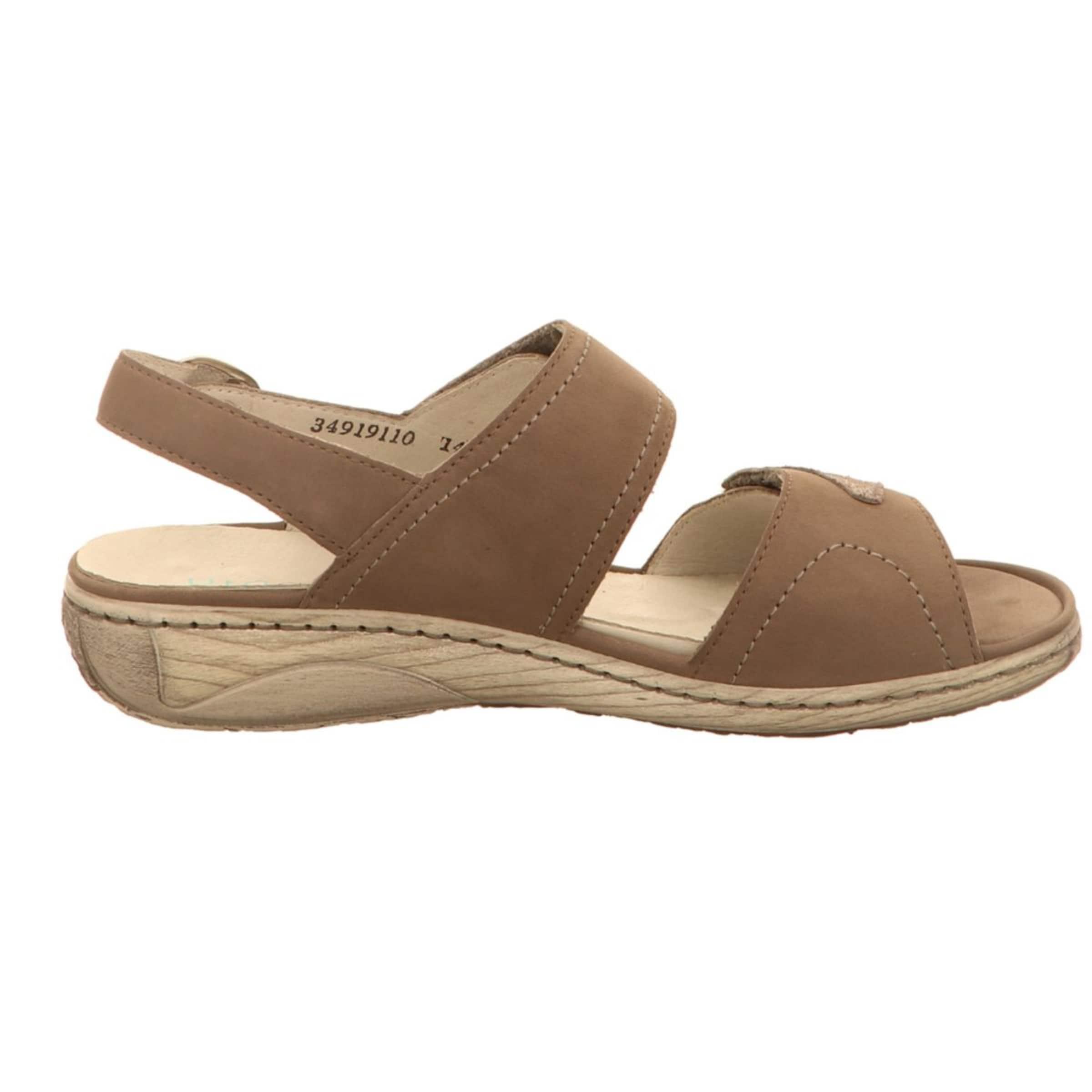 WALDLÄUFER Sandale in hellbraun