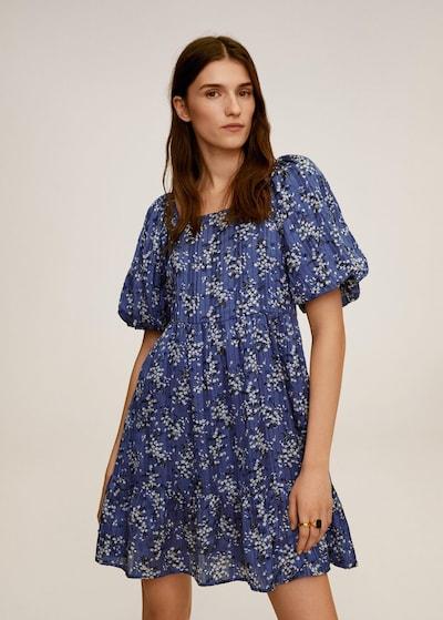 MANGO Kleid 'Sky' in marine / nachtblau / mischfarben, Modelansicht