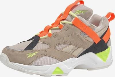 Reebok Classic Sneaker in camel / ecru / neongelb / mandarine, Produktansicht