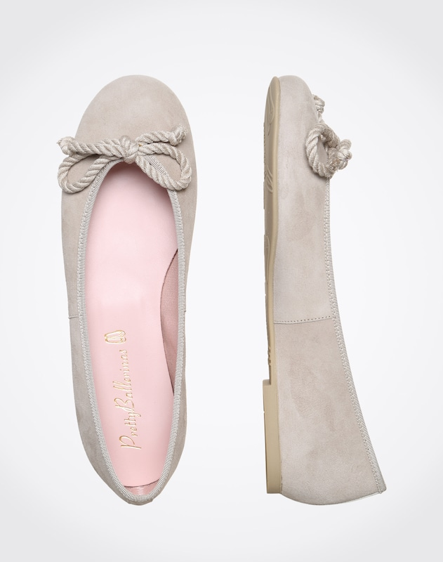 Pretty Ballerinas Leather Ballerina With Bow Angelis