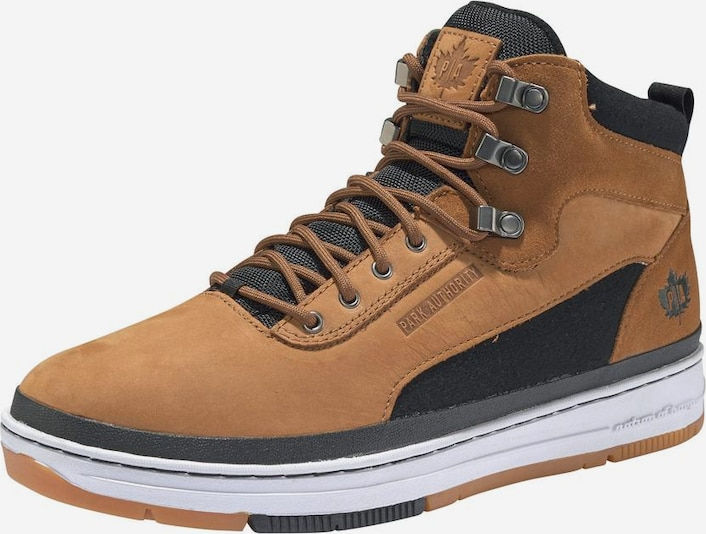PARK AUTHORITY by K1X Sneaker 'GK 3000' in cognac / schwarz, Produktansicht