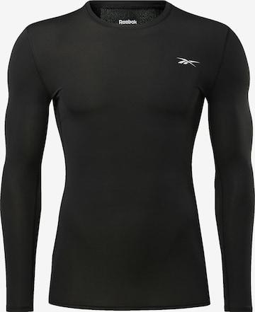 Reebok Sport Langarmshirt in Schwarz