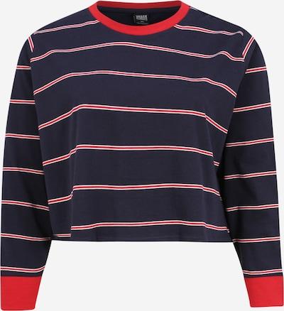 Urban Classics Curvy Shirt in de kleur Navy / Rood, Productweergave