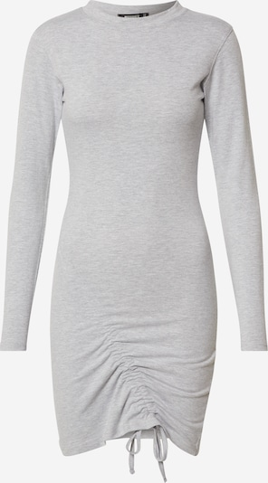 Missguided Robe 'RUCHED FRONT LS JERSEY MINI DRESS' en gris, Vue avec produit