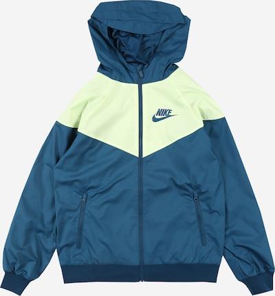Geacă de primăvară-toamnă Nike Sportswear pe albastru / galben, Vizualizare produs