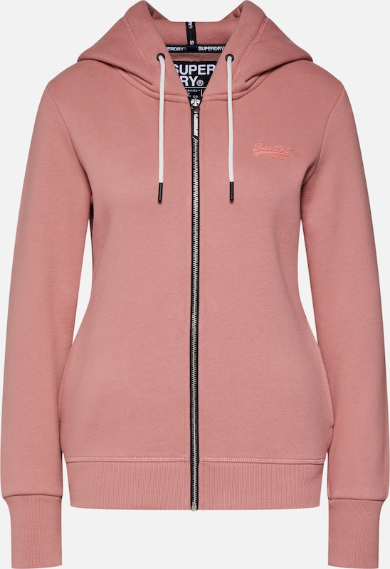 Superdry Sweatjacke 'ELITE' in rosa, Produktansicht