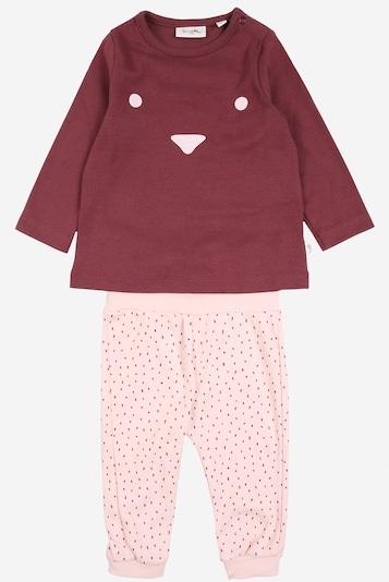 Sanetta Pure Pyjama in rosa / weinrot, Produktansicht