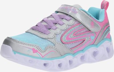 SKECHERS Sneakers 'HEART LIGHTS - LOVE SPARK' in de kleur Blauw / Zilvergrijs / Rosa, Productweergave