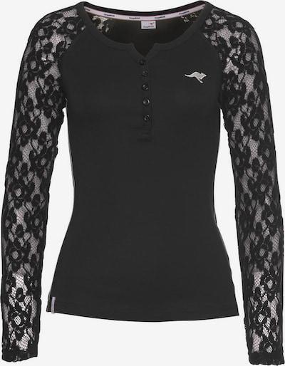 KangaROOS Langarmshirt in schwarz, Produktansicht