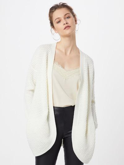 ONLY Strickjacke 'ONLVIOLET CARDIGAN' in weiß, Modelansicht