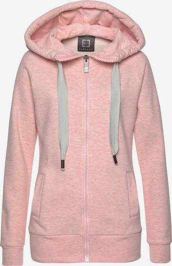Elbsand Kapuzensweatjacke in pfirsich / rosa, Produktansicht