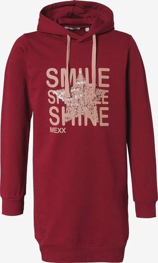 MEXX Sweatkleid in rosa / rot: Frontalansicht