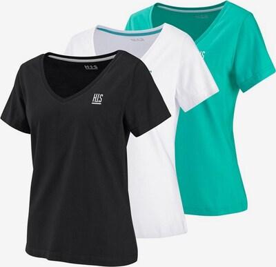 H.I.S T-Shirt in türkis / schwarz / weiß, Produktansicht