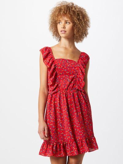 AX Paris Kleid in royalblau / pastellgrün / feuerrot, Modelansicht
