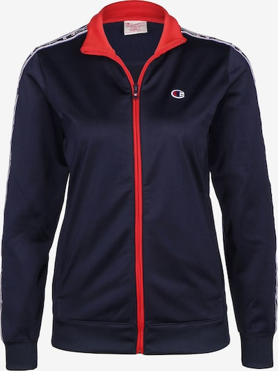 Champion Authentic Athletic Apparel Trainingsjacke 'W' in blau / rot, Produktansicht