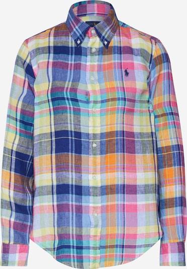 POLO RALPH LAUREN Bluse 'GEORGIA' in blau / gelb / pink, Produktansicht