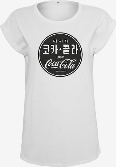 Merchcode T-Shirt 'Coca Cola' in schwarz / weiß, Produktansicht