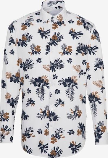 SEIDENSTICKER Hemd in enzian / braun / weiß, Produktansicht