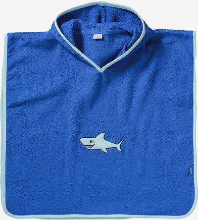 PLAYSHOES Poncho 'Hai' in blau / hellgrau, Produktansicht