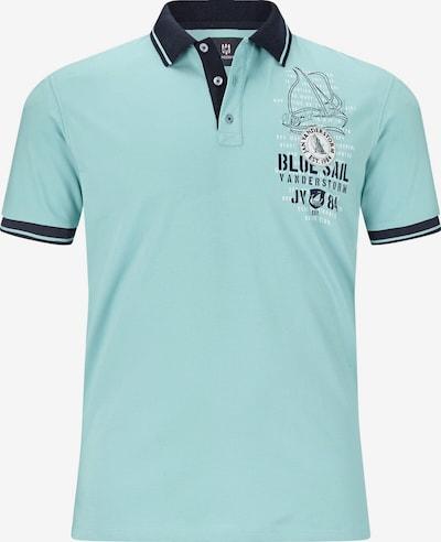 Jan Vanderstorm Poloshirt 'Dagnar' in navy / türkis, Produktansicht