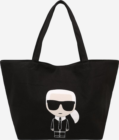 Karl Lagerfeld Shopper in schwarz / weiß, Produktansicht