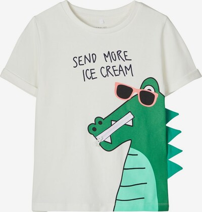 Tricou NAME IT pe verde / jad / roz deschis / negru / alb, Vizualizare produs