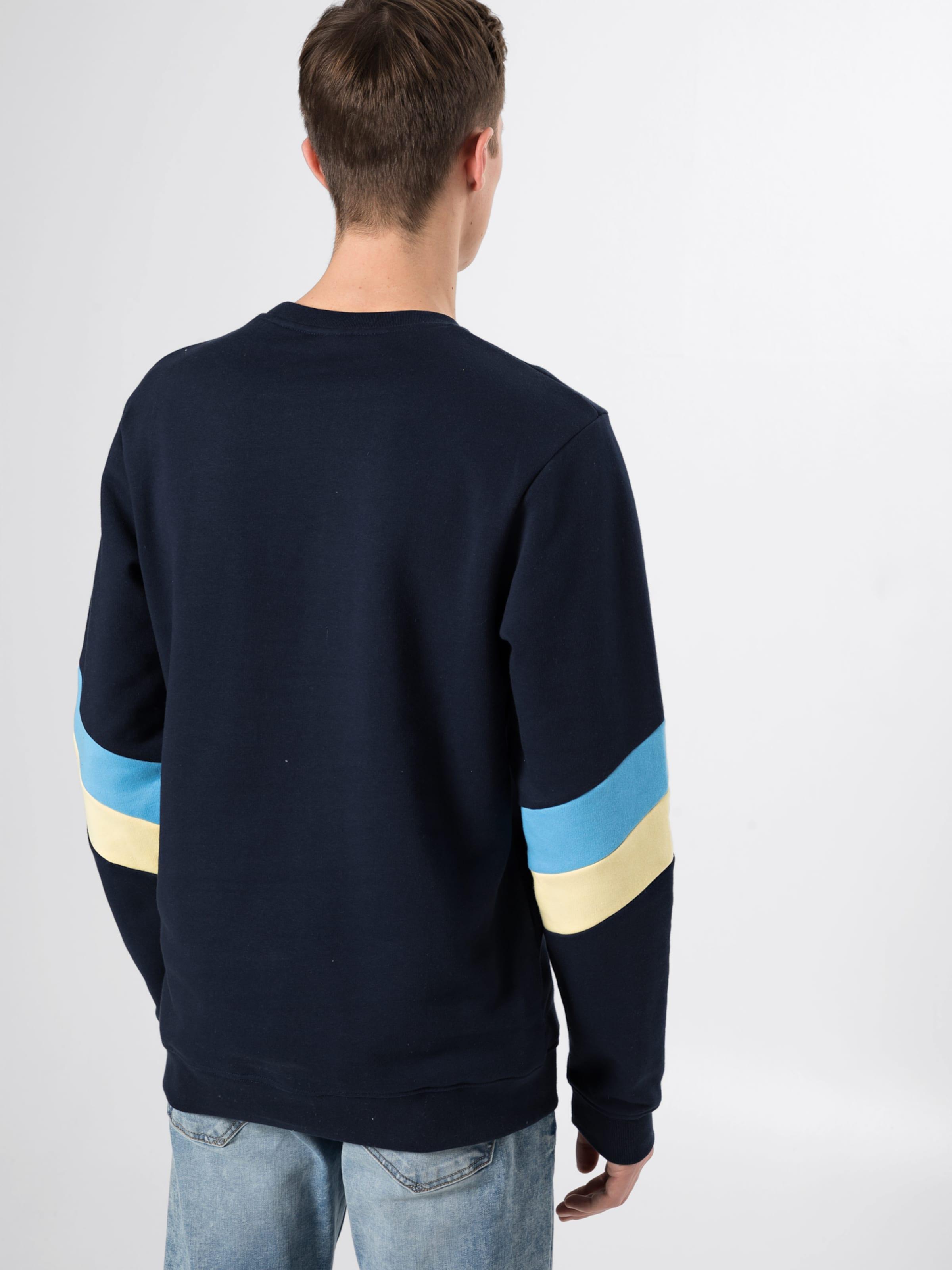 Bleu Iriedaily Crew' MarineNoisette En shirt 'prime Sweat Jaune OkiXZuP