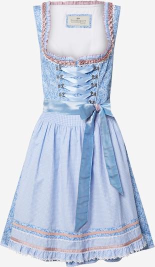 STOCKERPOINT Dirndl 'Esma' in blau / rosa, Produktansicht