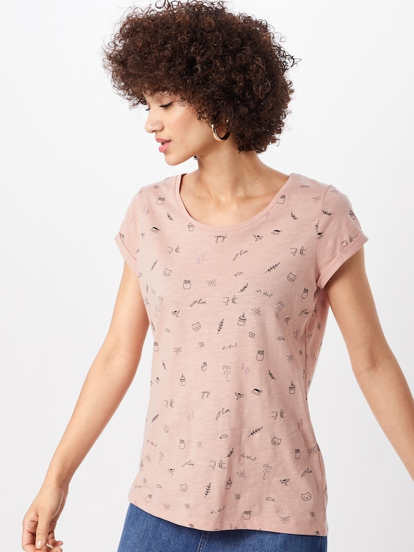 'ocs Aop shirts' shirt By Esprit Rosé Slub En T T Edc 5qRLAj43