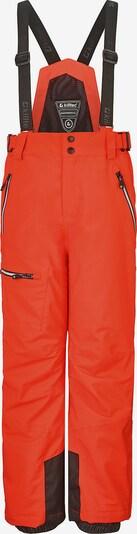 KILLTEC Skihose 'Zayn Jr' in orange / schwarz, Produktansicht