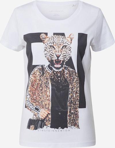 Tricou EINSTEIN & NEWTON pe bej / negru / alb, Vizualizare produs