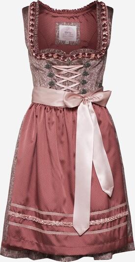 MARJO Dirndl 'Nola 58' in de kleur Grijs / Mauve / Rosa, Productweergave