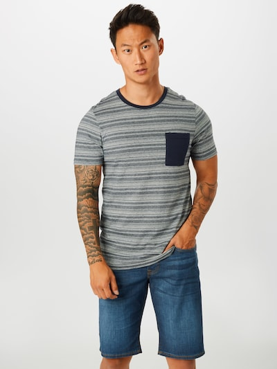 JACK & JONES T-Shirt en gris: Vue de face