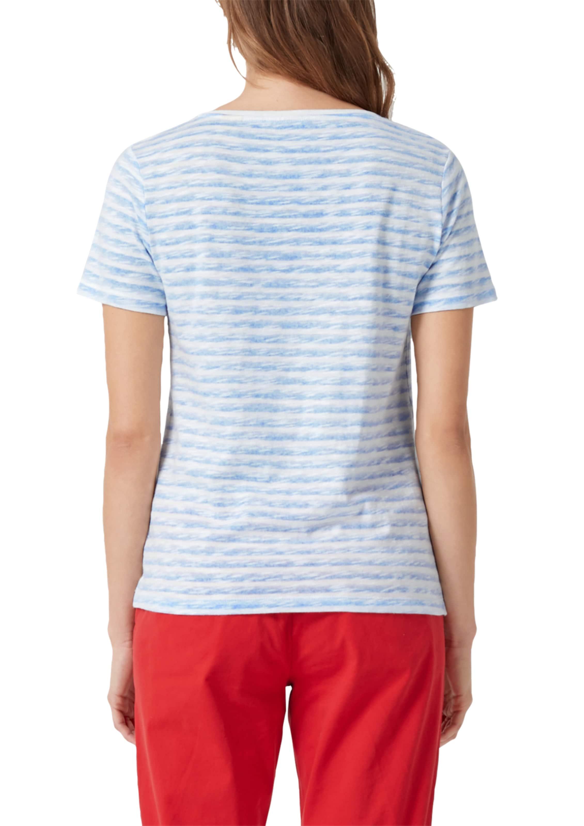 In S Red Label Shirt oliver RauchblauWeiß Y7ygvb6f