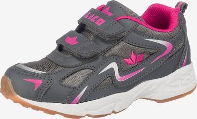 LICO Sportschuhe GAMBOL V für Jungen in grau / silbergrau / pink, Produktansicht