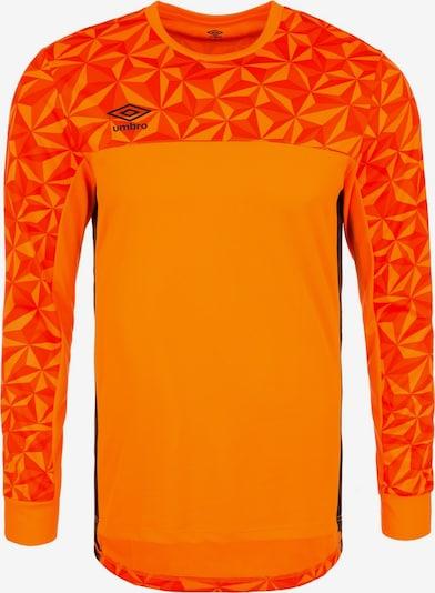 UMBRO Torwarttrikot 'Portero' in orange / orangerot / schwarz, Produktansicht