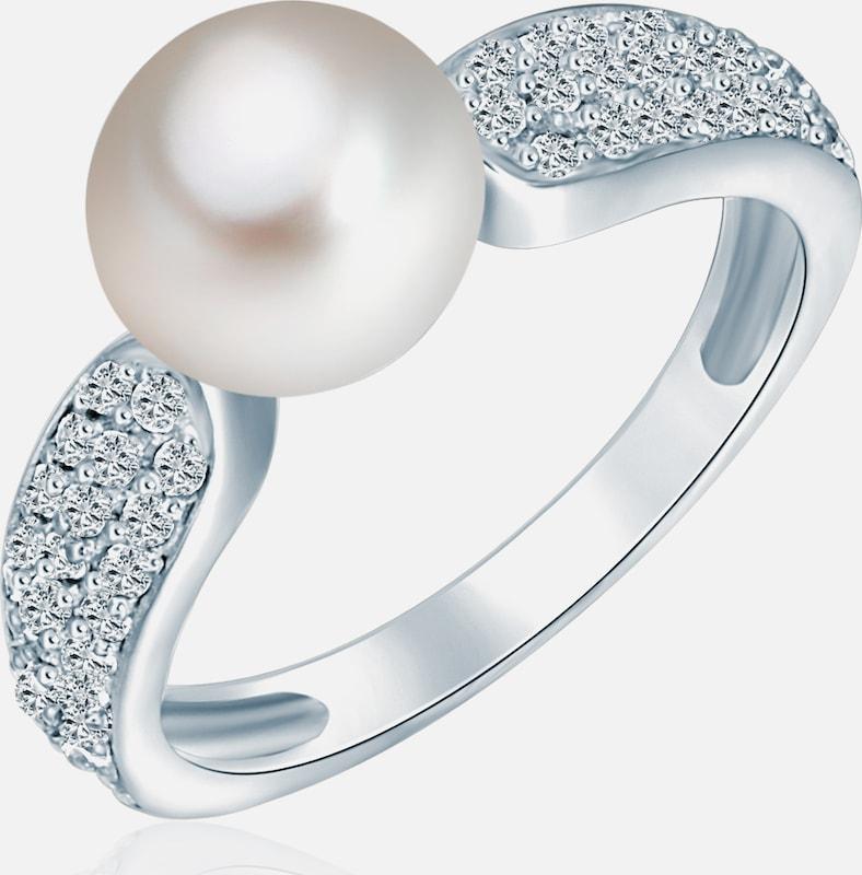 Valero Pearls Ring mit Perlen- und Steinbesatz