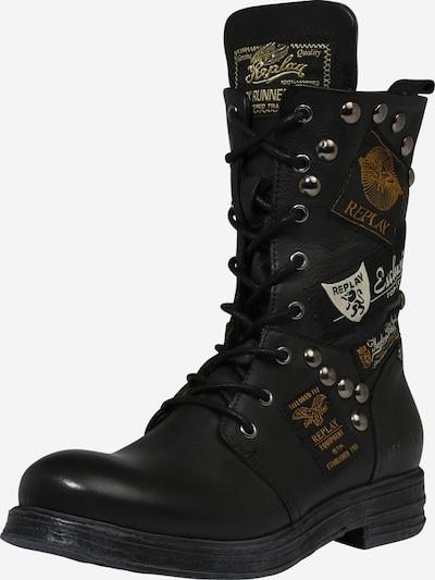 REPLAY Boots 'DUSTER' in beige / dunkelgelb / schwarz / weiß: Frontalansicht