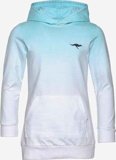 KangaROOS Sweatshirt in türkis / weiß, Produktansicht