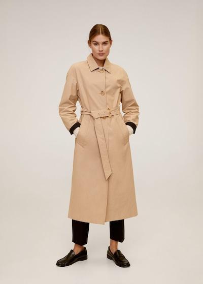 MANGO Manteau mi-saison 'Styl' en beige, Vue avec modèle