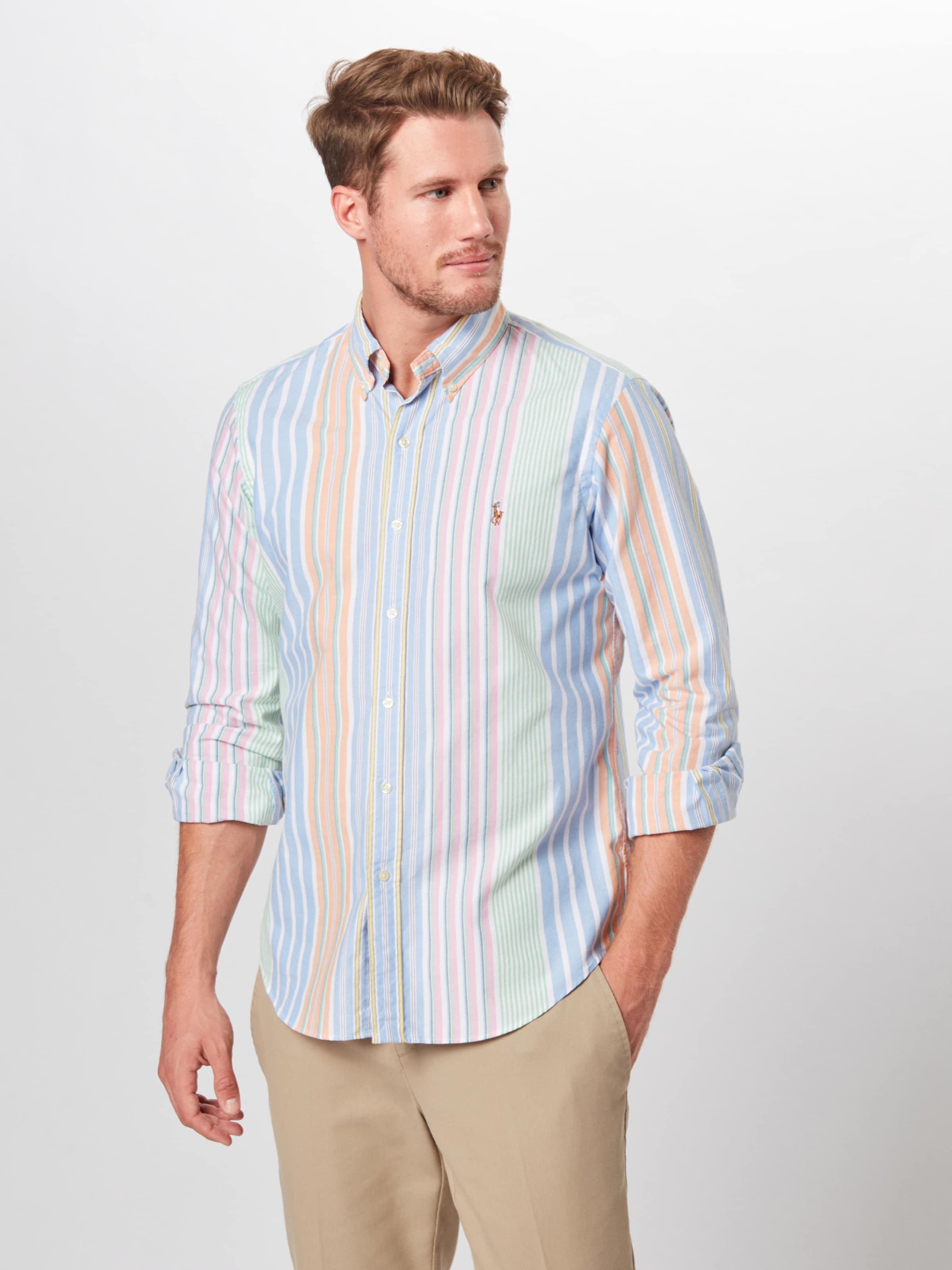 sport Sleeve Polo Shirt' Spt In long Lauren Hellorange Hemd BlauHellgrün Altrosa 'bd Ppc Ralph Yfy76gvIb