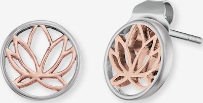 Engelsrufer Ohrstecker 'Lotus' in rosegold / silber, Produktansicht