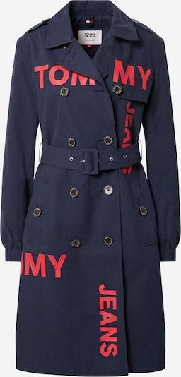 Tommy Jeans Prechodný kabát - námornícka modrá / červená, Produkt