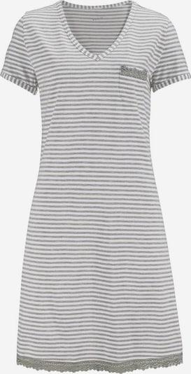H.I.S Chemise de nuit en gris clair / blanc, Vue avec produit